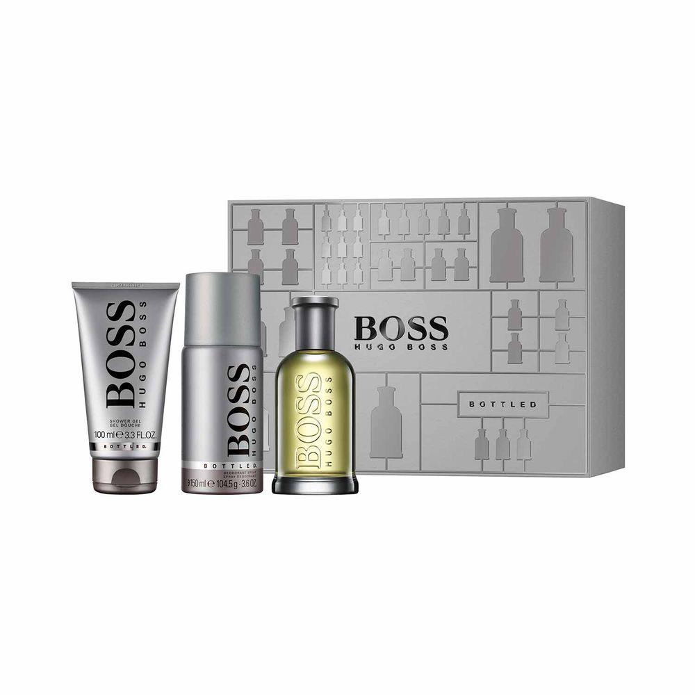 Boss Bottled EDT 100 ml + Deo Spray y Shower Gel