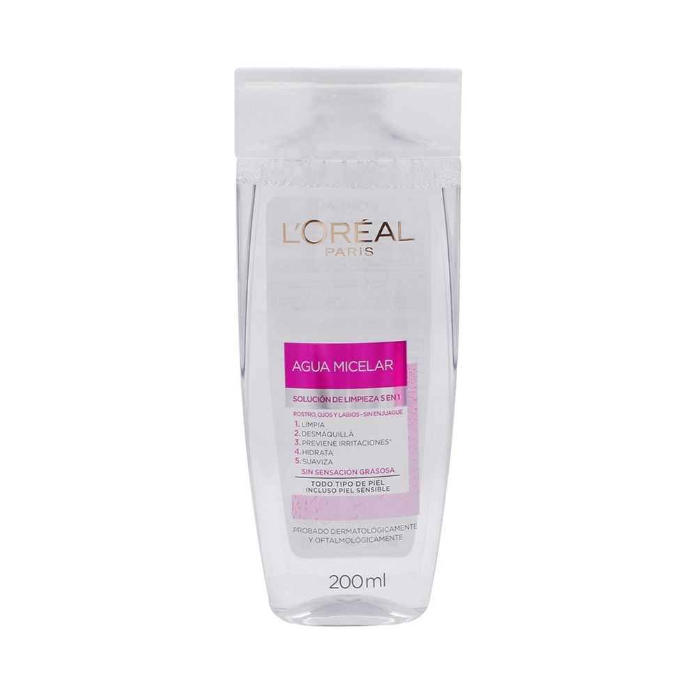 Agua Micelar Limpieza Facial 5 en 1 200 ml