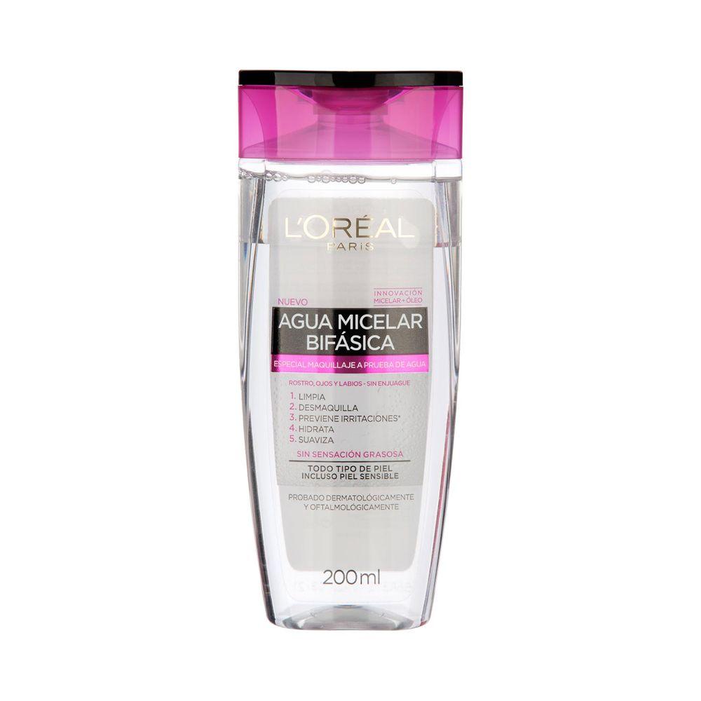 Agua Micelar Limpieza Facial 5 en 1 Waterproof 200 ml