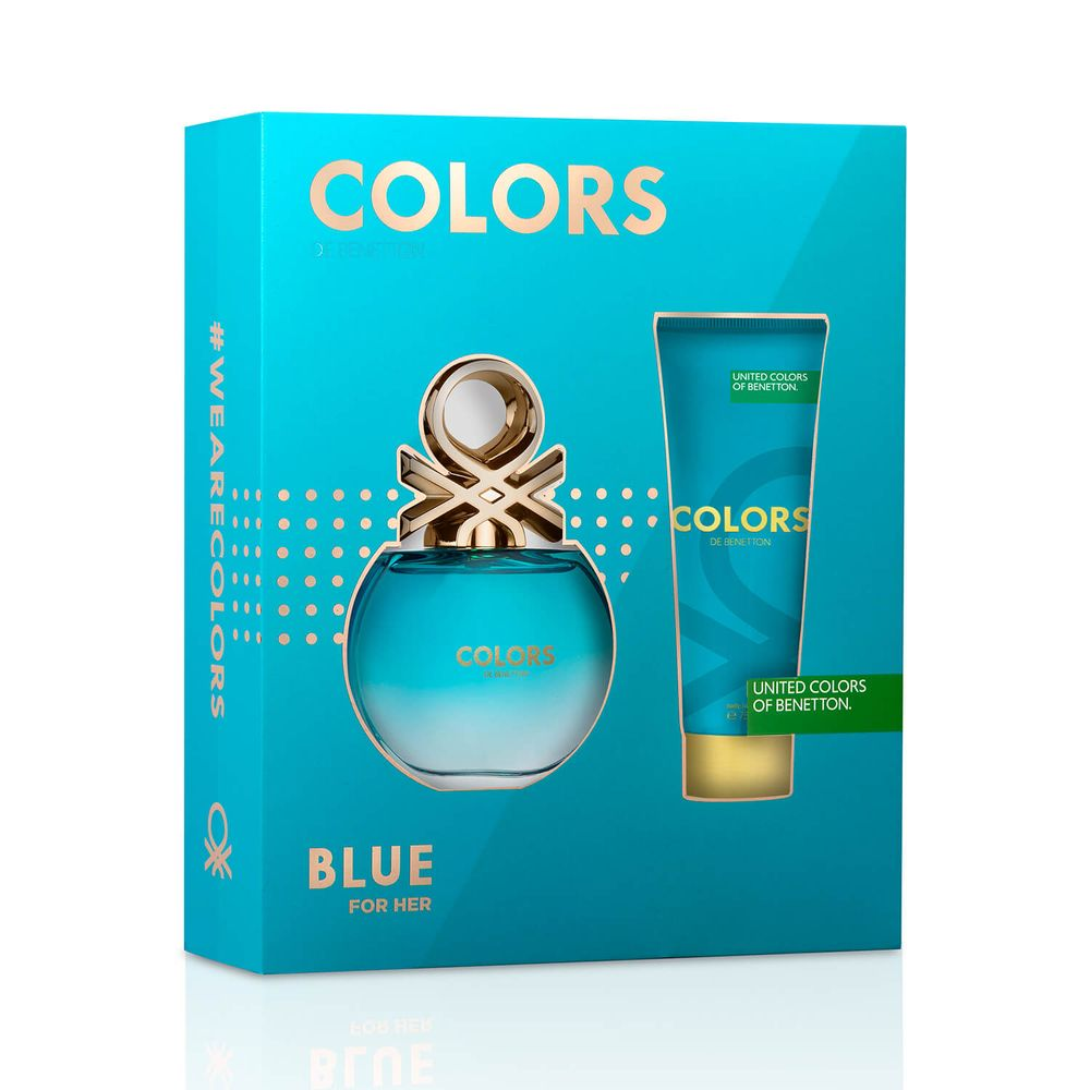 Colors Blue EDT 80 ml + Body Lotion