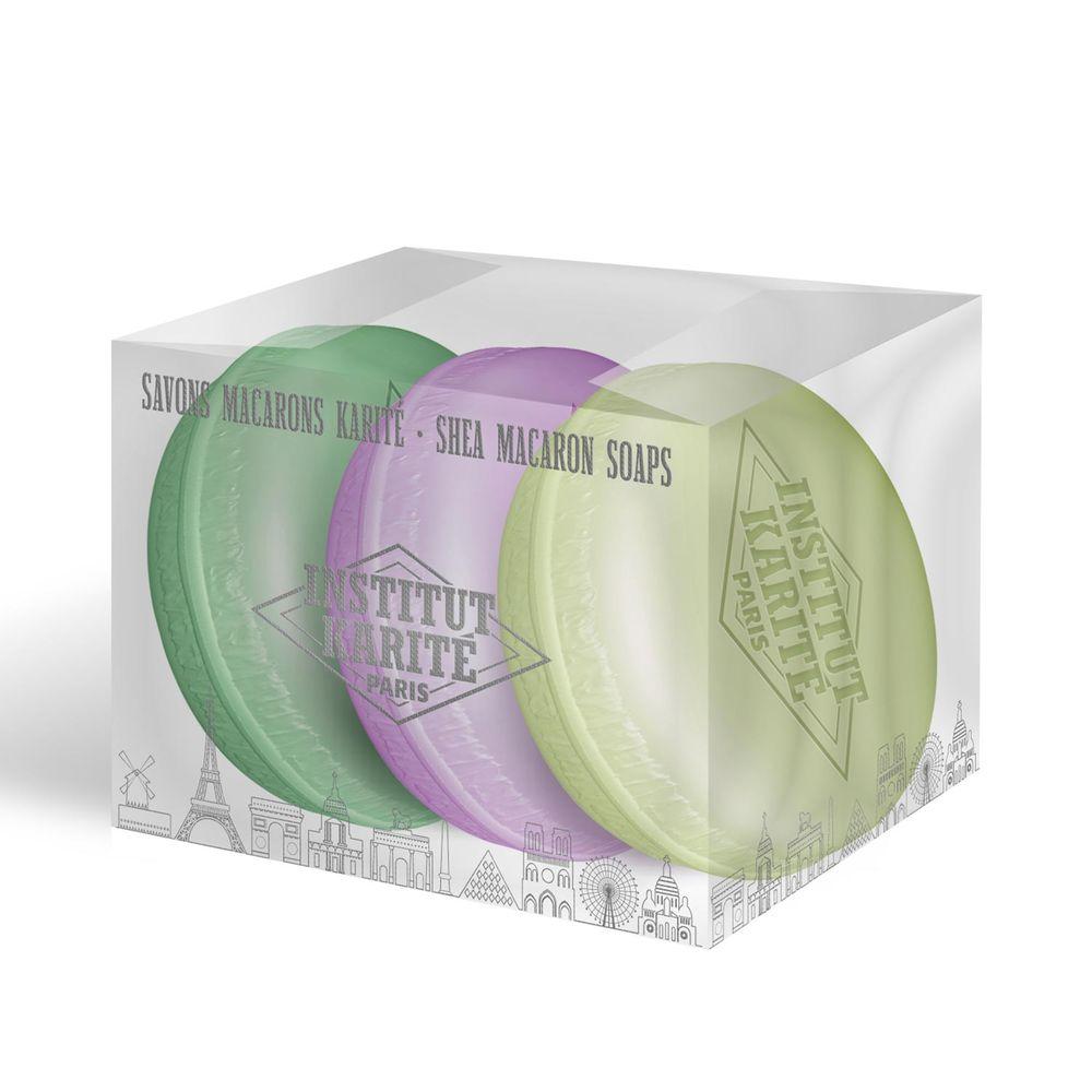Shea Macaron Soap Trio Verbena Lavender Lily 27 g