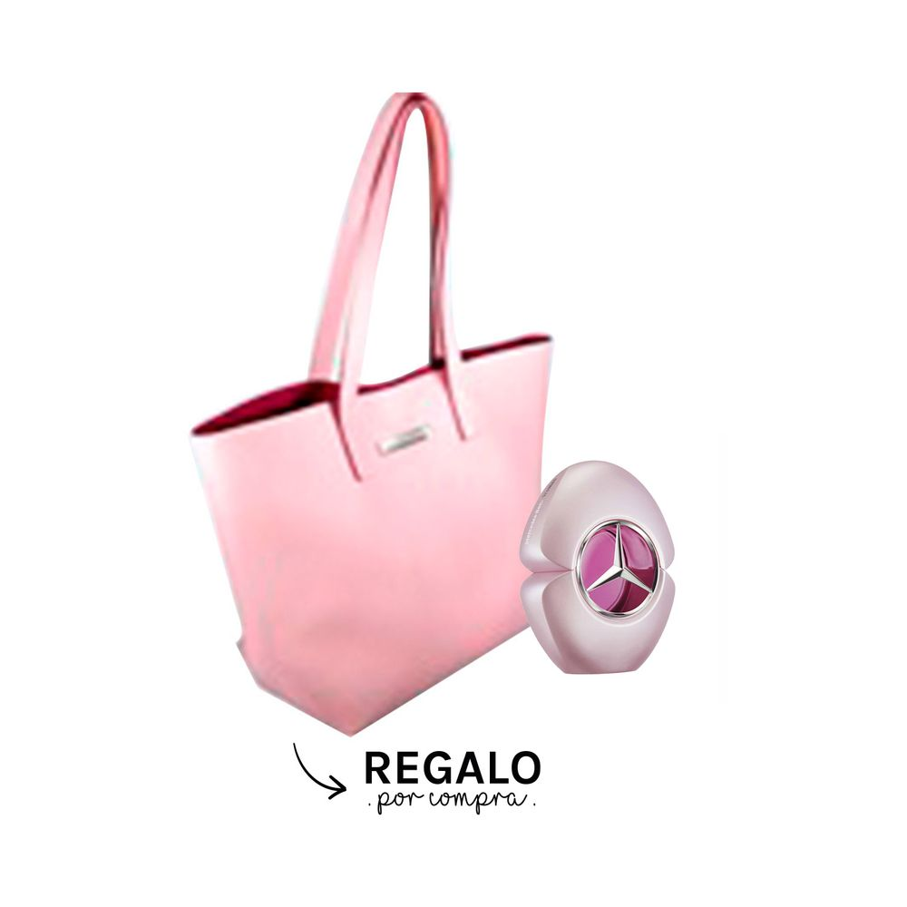 Mercedes Benz Woman EDP 90 ml + Bolso Pink