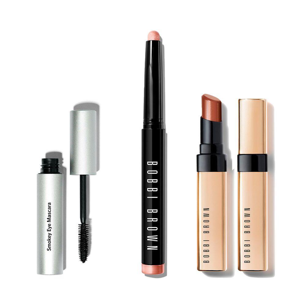 Essential Eye & Lips Set Long Wear Stick Golden Pink + Labial y Mascara