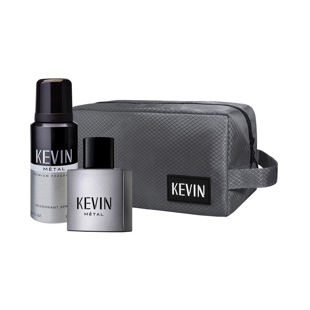 Kevin Metal EDT 60 ml + Deo y Neceser