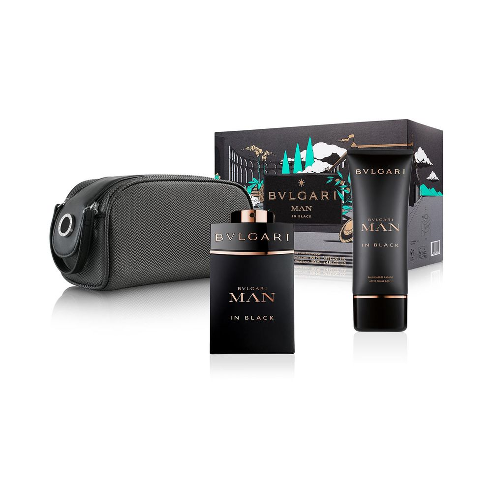 Bvlgari Man In Black EDP 100 ml + After Shave y Pouch
