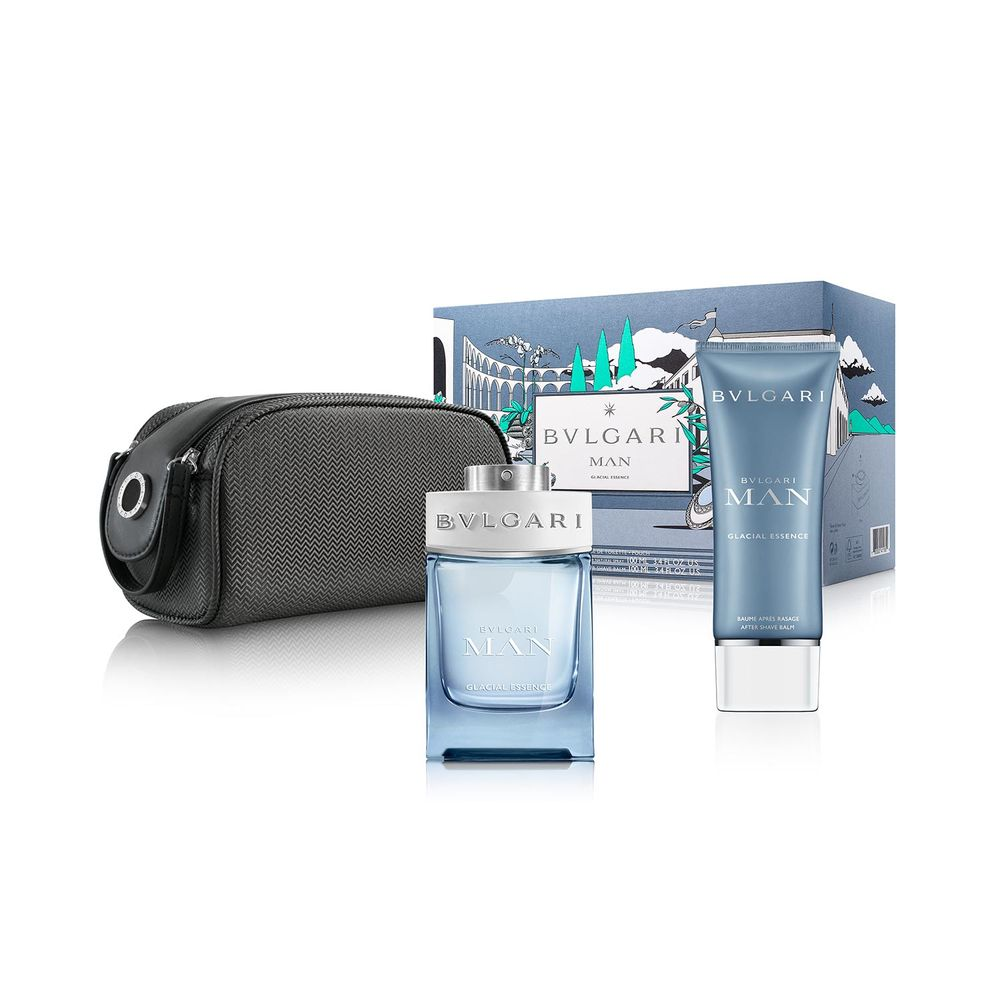 Bvlgari Man Glacial Essence EDP 100 ml + After Shave y Pouch