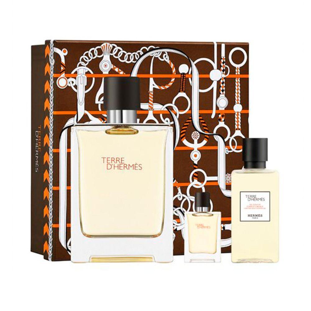Estuche Terre d'Hermès Terre D Hermes EDT 100 ml + 5ml y Shower Gel 40ml
