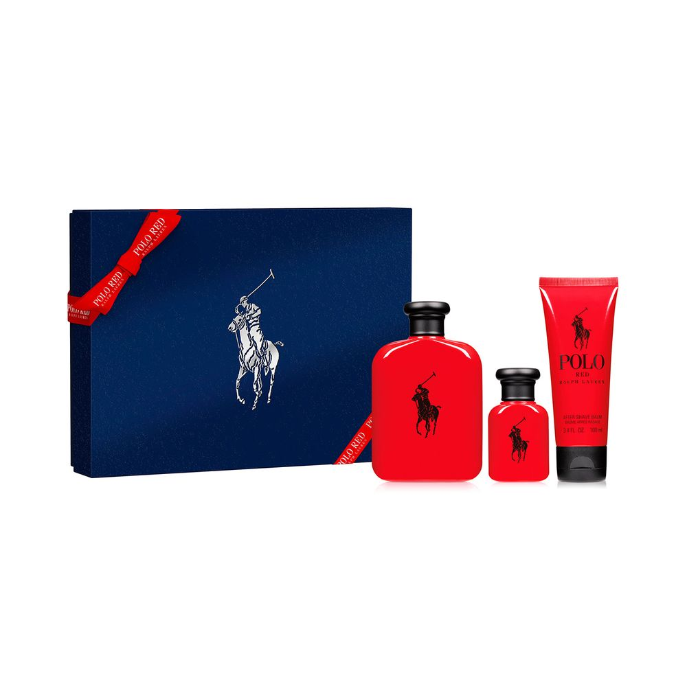 Polo Red EDT 125 ml + EDT 40 ml y Bálsamo After Shave Ed. Limitada