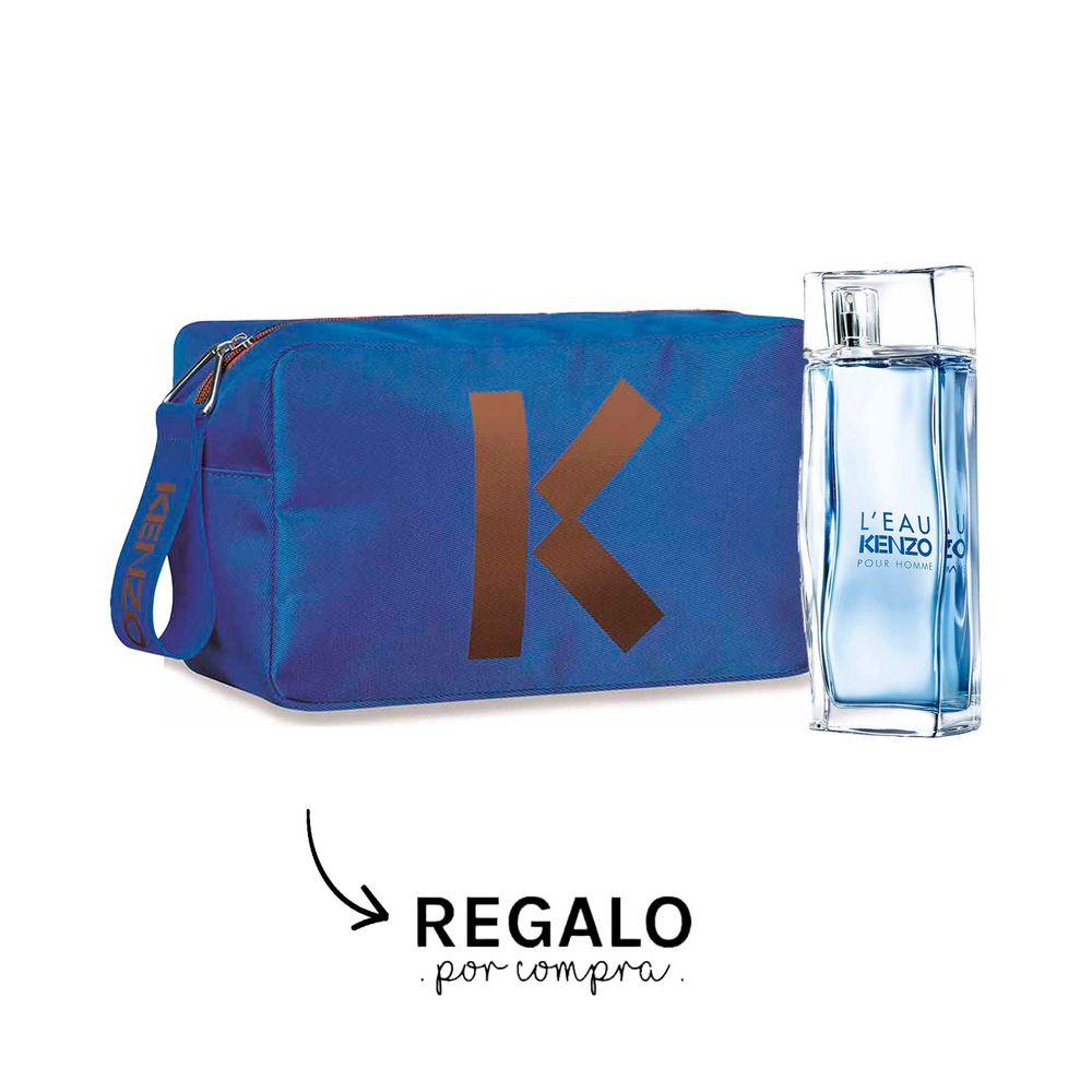 L Eau Kenzo Pour Homme EDT 100 ml + Neceser Azul