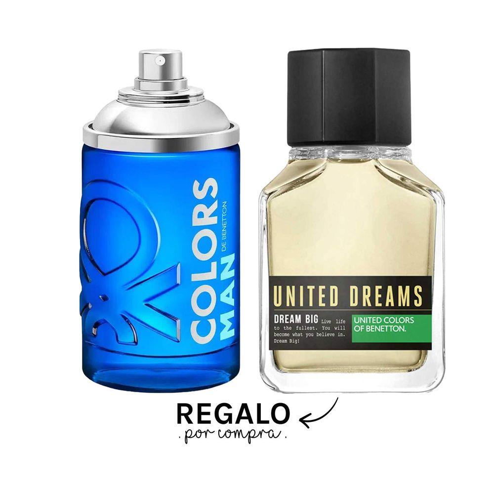 Colors Blue Man EDT 100 ml + Regalo Dream Big EDT 100 ml