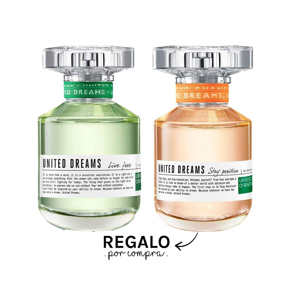 United Dreams Live Free EDT 80 ml + Regalo Stay Positive EDT 80 ml
