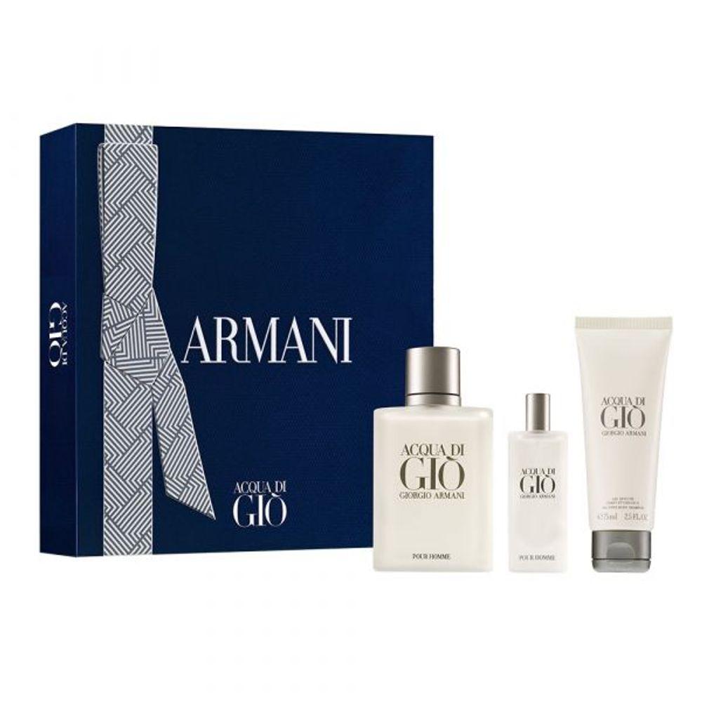 Acqua Di Gio Homme EDT 100 ml + EDT 15 ml y Shower Gel Ed. Limitada
