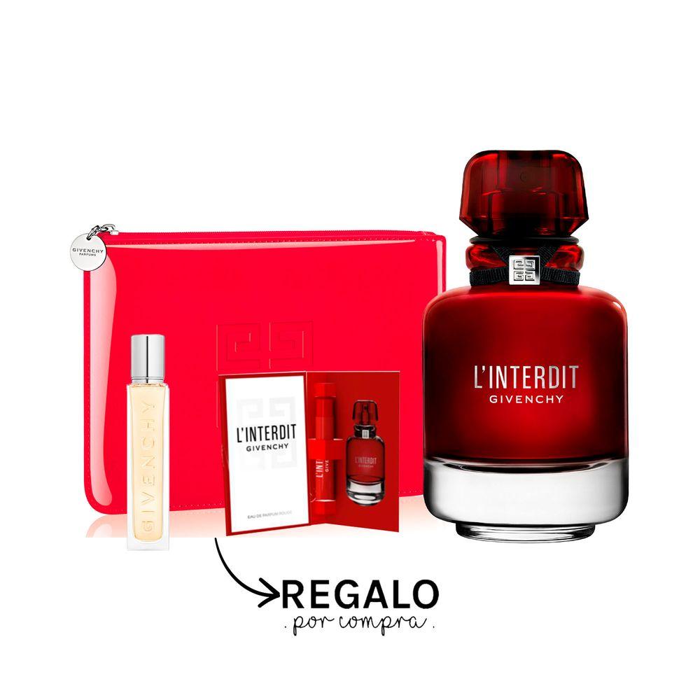 L´ Interdit Rouge EDP 80 ml + Pouch, Travel Spray y Muestra
