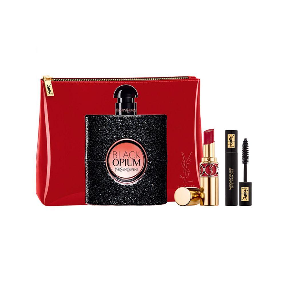 Black Opium EDP 90 ml + Rouge, Mini Mascara y Pouch